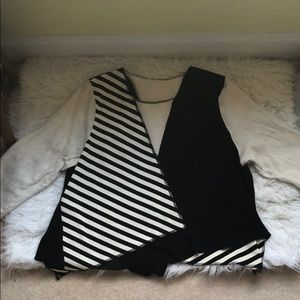 urban outfitters striped patch top NWOT
